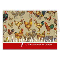 Poultry Rooster Chicken country Merry Christmas