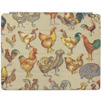 Poultry Rooster Chicken country vintage art iPad Smart Cover