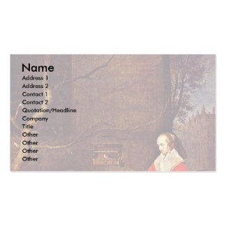 Poultry Sellers By Metsu Gabriel Business Cards