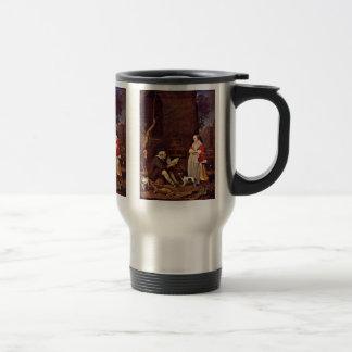 Poultry Sellers By Metsu Gabriel Coffee Mug