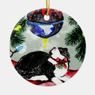 Pounce's First Christmas Ceramic Ornament