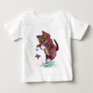 Pouncing & Chase Chase -kitten & butterflies Baby T-Shirt