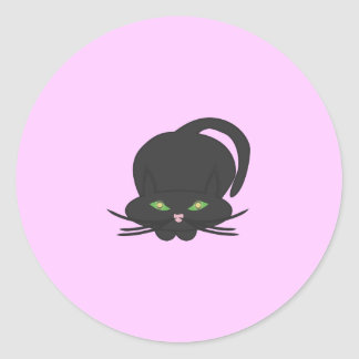 Pouncing Kitty Classic Round Sticker