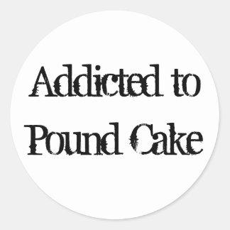 Pound Cake Classic Round Sticker