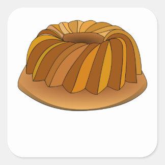 Pound Cake Square Sticker