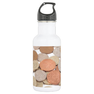 Pound coin stainless steel water bottle