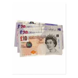 Pound note postcard