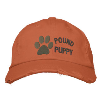 Pound Puppy Embroidered Baseball Hat