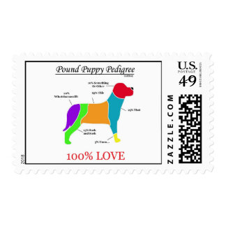 Pound Puppy Pedigree Postage Stamps