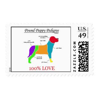Pound Puppy Pedigree Stamp