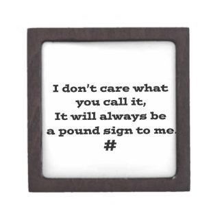 Pound Sign Gift Box