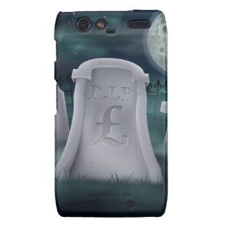 Pound Sterling grave concept Motorola Droid RAZR Cases