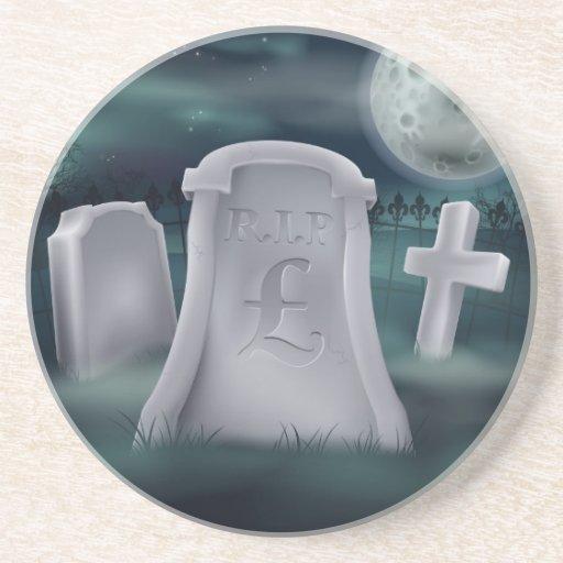 Pound Sterling grave concept Coaster