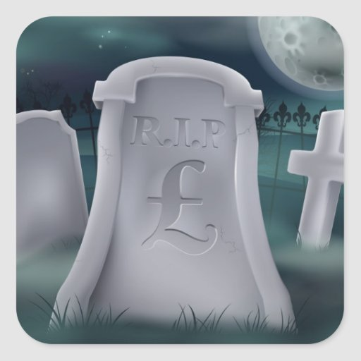 Pound Sterling grave concept Stickers