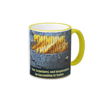 Pounding The Pavement Book Cover Mug