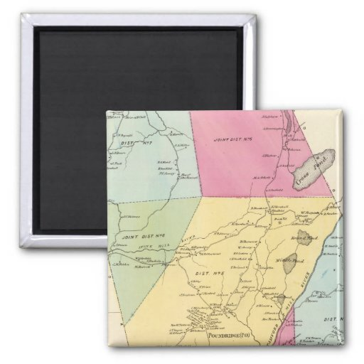 Poundridge, Town 2 Inch Square Magnet
