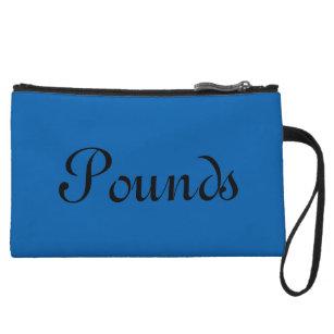 Pounds, Blue Wristlet Wallet