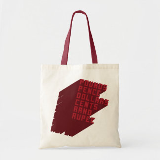 Pounds Pence Dollars Cents Rand Rupee Tote Bag