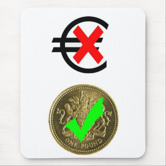 Pounds Sterling versus Euro (2) Mouse Pad