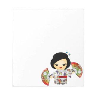 Poupée avec Kimono Blocs-notes Mémo