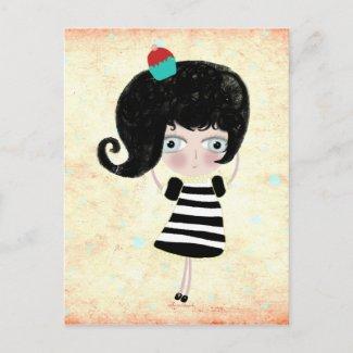 Poupée delicious cupcake creepy doll feld postcard postcard