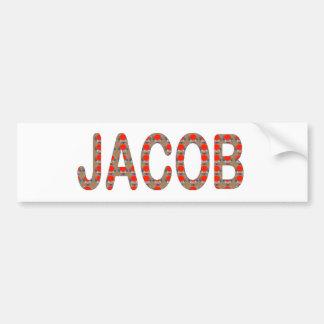 Pour JACOB Name  artist NavinJOSHI artistique GIFT Bumper Stickers