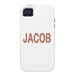 Pour JACOB Name  artist NavinJOSHI artistique GIFT Case-Mate iPhone 4 Covers