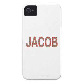 Pour JACOB Name  artist NavinJOSHI artistique GIFT iPhone 4 Case