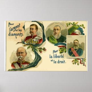 Pour Largent Et Les Diaments Pour La Liberte, Vint Posters