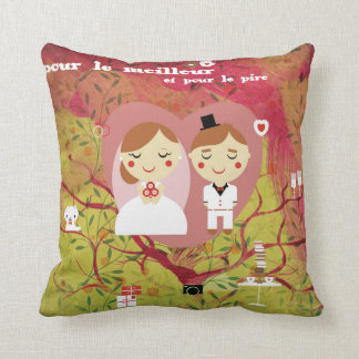 pour le meilleur mariage throw pillow