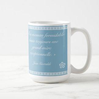 Pour le meilleure grand-mère coffee mug