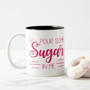 Pour some sugar rock funny lyrics coffee mug Kitchen Dining