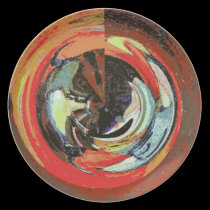 Poured Paint Abstract plates