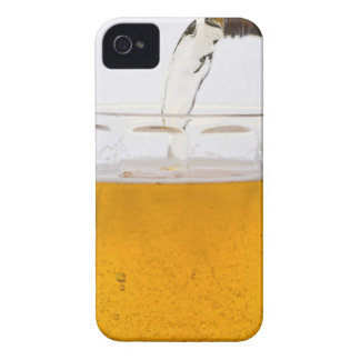 Pouring beer in glass mug, Extreme, Close-up iPhone 4 Cover