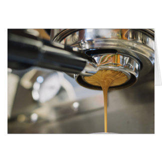 Pouring Espresso from Coffee Machine