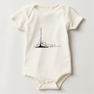 Pouring Musical Notes Baby Bodysuit