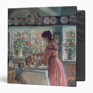 Pouring the Morning Coffee, 1906 3 Ring Binders