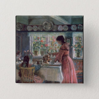 Pouring the Morning Coffee, 1906 Button