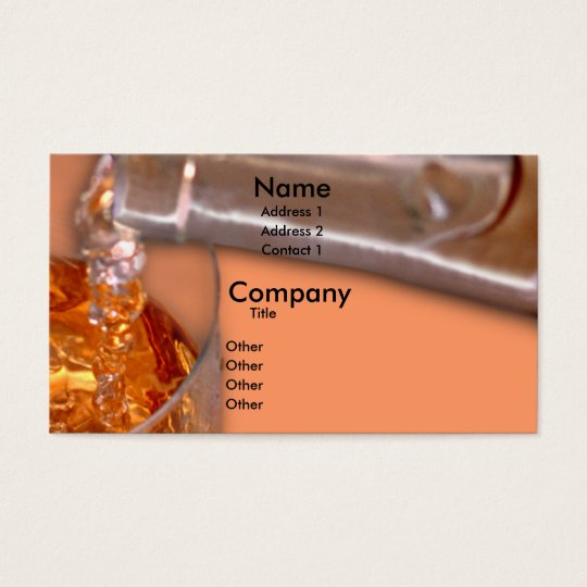 Pouring Wine Business Card