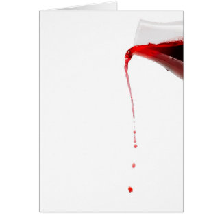 Pouring wine. card