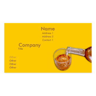 Pouring Wine Double-Sided Standard Business Cards (Pack Of 100)