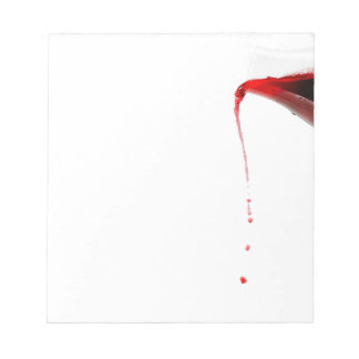 Pouring wine. notepad