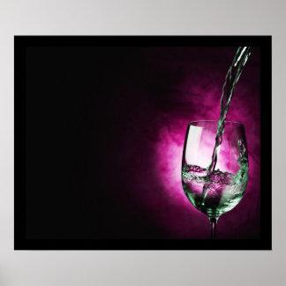 pouring wine - purple print