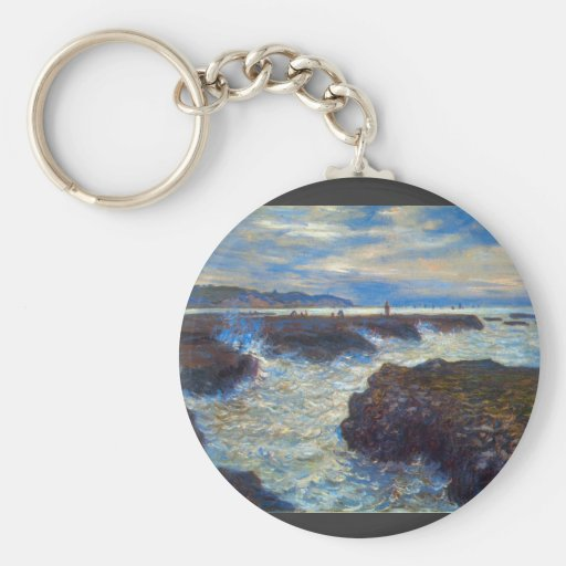 Pourville by Claude Monet Key Chain