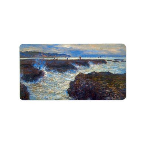 Pourville by Claude Monet Custom Address Labels