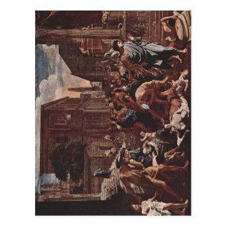 Poussin, Nicolas Die Pest von Azoth La Peste d'Asd Postcard