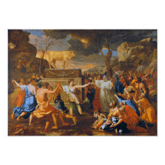 Poussin The Adoration Of The Golden Calf Large For Posters