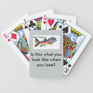 Pout Trout Bicycle Playing Cards