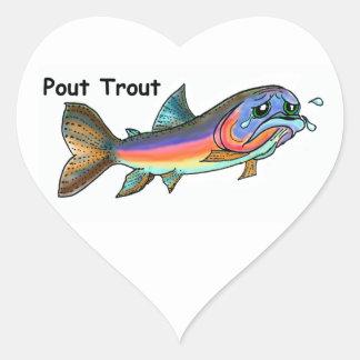 Pout Trout Heart Sticker