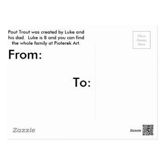 Pout Trout Postcard